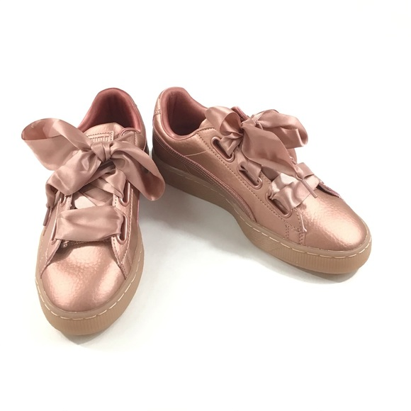 puma heart copper rose